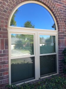 After Twin windows with Half round Transom - Master Remodelers Tx