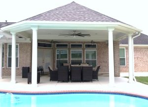 DURINGHouston TX Triple Pane WindowsBagley Octagonal Patio Slab, Patio Cover & Windows - Master Remodelers Tx