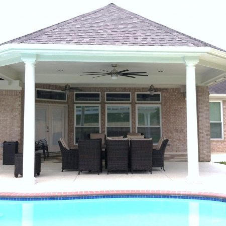 DURING Bagley Octagonal Patio Slab, Patio Cover & Windows - Master Remodelers Tx